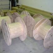 Dřevěné cívky