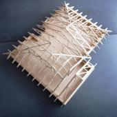 Vazníkový krov - model