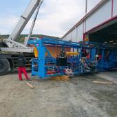 Zahájení montáže výrobní linky Hundegger K2i